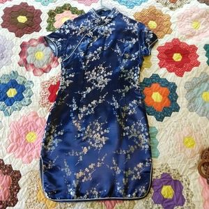 New never worn Chinese Blue Sheeth Dress S